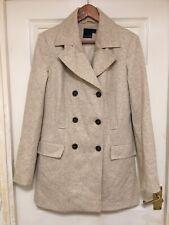 ASOS TALL ladies beige pea coat size 10