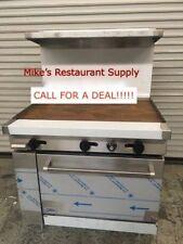 New 24 Griddle Flat Range Amp Gas Oven Stratus Sr G24 7226 Commercial Restaurant