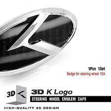 3D K Logo Steering Wheel Horn Cap Emblem Badge For KIA 2008-2011 2012 2013 Soul