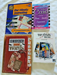 Scrapbooking Craft Books Lot of 4 Titles Words Journaling Quotes Expressions