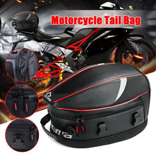 Motorcycle Motorbike Scooter Sport Luggage Rear Seat Rider Tail Bag Helmet Pack