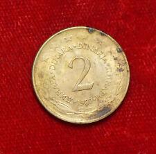 1980 2 Dinara Münze Coin Yugoslavie Yugoslavia Jugoslawien (C4)