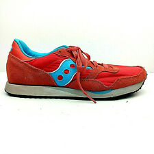 SAUCONY Womens DXN TRAINER Leather Nylon Running Cross Shoes Sz 10.5 Blue Orange
