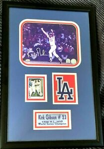 Kirk Gibson autographed signed auto Dodgers 1988 WS HR 8x10 photo framed w patch