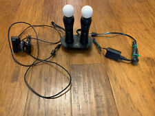 Sony PS3 PS4 Move Controller VR Playstation LOT SET of 2 OEM & Charger & Camera