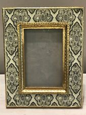 Black & White Gold Textured Composite 4x6 Photo Pucture Frame Free-standing