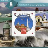 Guinea-Bissau 2015 MNH Lighthouses 1v S/S Punta Penna Lighthouse Stamps