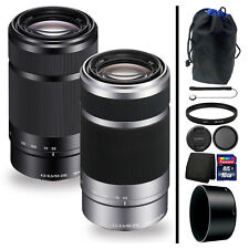 Sony E 55-210mm f/4.5-6.3 Oss Lens Black or Silver + Accessory Bundle