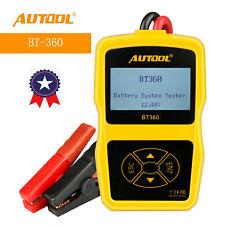 AUTOOL BT360 DC 12V Car Battery System Tester Car Charging Test Analyzer US