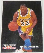 1993/94 Magic Johnson/Williams NBA Hoops Face To Face Insert Card #FTF8 NM Cond