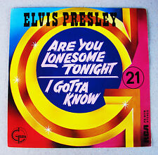 Elvis Presley Are You Lonesome Tonight / I Gotta Know RARE Belgium Import Mint-