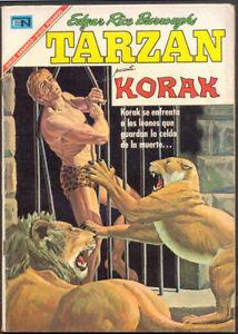 TARZAN # 184 PRESENTA KORAK ORIGINAL SPANISH MEXICAN COMIC NOVARO 1967
