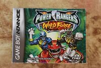 Power Rangers Wild Force Nintendo Game Boy Advance Manual Only