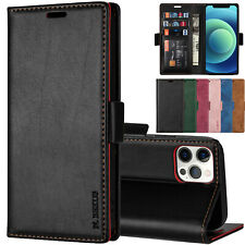 Flip Leather Wallet Holder Phone Case Cover for iPhone 12 11 XS Max XR 7 8 Plus