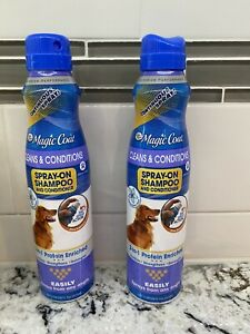 2 Bottles Four Paws Magic Coat Cleans and Conditions 2 in1 Spray Dog Shampoo