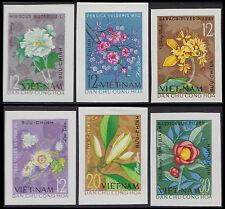 VIETNAM du NORD N°363/368** Non dentelés Fleurs, 1964, North Viet Nam Imperf