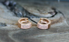AamiraA 18K Gold Plated Classic Round Zircon AAA+ Designer Earrings Hoops Loops