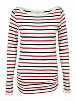 Rachel Roy Women's Long Sleeve Striped Top (XS, Winter White Combo)