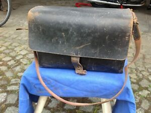Alte Posttasche,Leder, Zustellertasche b/h/t 38x25x15cm.60er Jahre