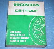 manuel d'atelier revue technique Honda CB 1100 F de 1983