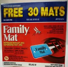 Mosquito Repellent FAMILY MAT 12 Hrs Mat Tablet Insect Thermacell Refill 120 Pcs