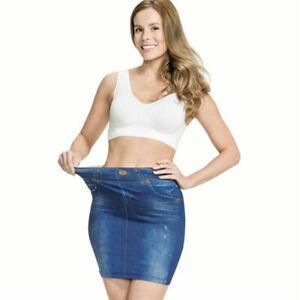 ✅ Damen Hosenrock Denim Jeans Minirock Partyrock Stretch Sommerrock Jeansrock