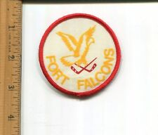 Fort Falcons Minor Hockey Hat/Jacket Patch Vintage