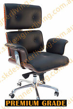 SKDL Replica BLACK Eames High Back Top Grain Leather Office Chair SK6808