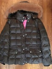 Bogner Brown Ski Jacket with Fur Hood, size 8 women