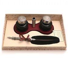 Calligraphie Set Feather Quill & Ink Holder Set, beau cadeau