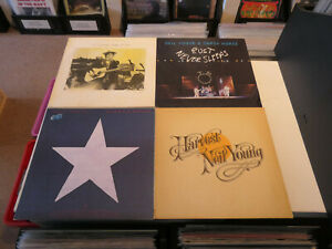 """NEIL YOUNG: Harvest/ Comes A Time/ Hawks & Doves etc., NICE LOT WITH 4 LP´S/ 12"""""""