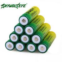 SKYWOLFEYE 14500 Battery 3.7V 1200mAH Li-ion Rechargeable For Flashlight LAMP QS