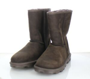 76-13 $160 Women Sz7 M UGG Essential Short UGGpure Wool Lined Leather Boot