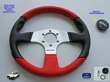Volante Fiat Panda 141 A Sterzo Rosso e nero con mozzo Volanti sportivo auto per