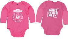 Baby Ramone Slaver Hey Long Sleeve Body Organic Cotton Pink