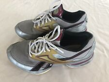 Reebok Easy Tone Smooth Fit Shoes Women's Size 7 Purple Silver