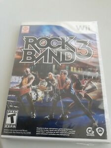 Rock Band 3 (Nintendo Wii, 2010) sealed