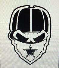 Dallas Cowboys Skull Decal - Bryant Elliot Prescott -- Free Ship