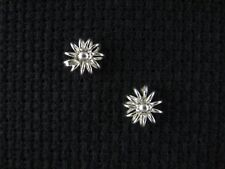 BLOSSOM FLORAL .925 Sterling Silver Post Earrings - FREE SHIPPING & Gift Box!