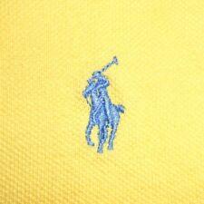 2XLT Polo Ralph Lauren Yellow Short Sleeve Polo Shirt 100% Cotton 2XL Tall PRL
