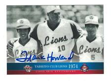 Frank Howard AUTOGRAPH 2010 60TH ANNIVERSARY BASEBALL CARD HAND SIGNED LIONS
