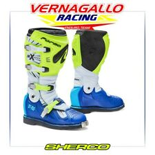 Forma Stivali Moto terreno TX Homologuee questo Giallo Fluo/bianco/blu