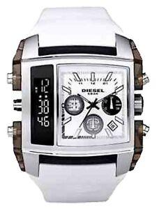 Diesel White XL Fashion Watch, DZ7157, Analog & Digital Display, Needs Battery