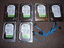 """Lote De Trabajo 6 X discos duros 160gb discos duros western digital de discos SATA 3.5"""""""