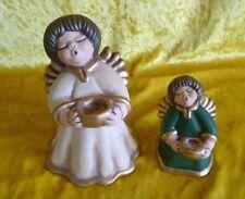 Thun Keramik 2x Figuren Engel   Bozen Christmas Angel
