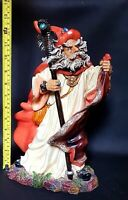 Stunning Huge Detailed Mythical Fantasy Magic Wizard Figurine Statue 33cms Tall