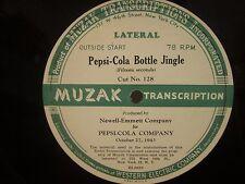 Pepsi Cola Oct. 27, 1943 radio jingle radio disc from Muzak Corp.