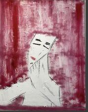 "Original Abstract Acrylic Painting 20x24 Name ""Sad Rain"""