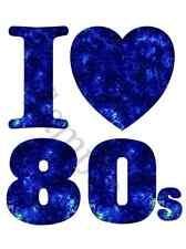 I Love the 80s retro Iron on transfer A5