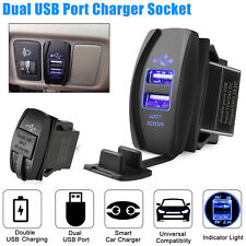 3.1A Dual USB Socket Charger Power Adapter Waterproof LED 12V 24V For Car Motor